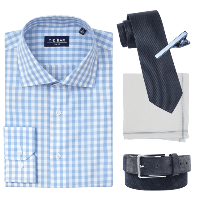 99d95e721b59 Sky Blue Classic Gingham Shirt | Shirts | The Tie Bar